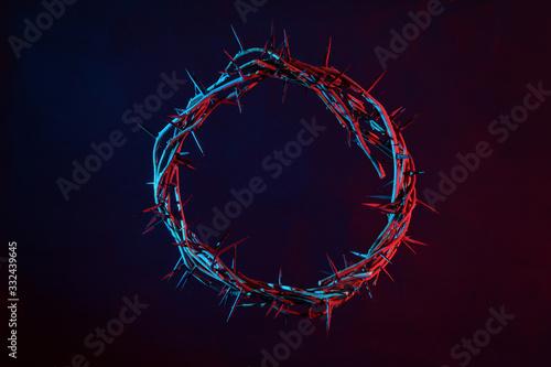 Fotografia Crown Of Thorns On A Dark Background