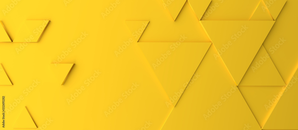 Abstract modern yellow triangle background <span>plik: #332693282   autor: Andreas Berheide</span>