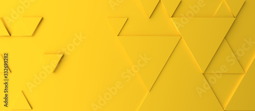 Abstract modern yellow triangle background
