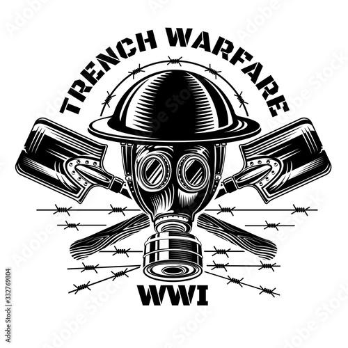 Canvas Print Trench warfare