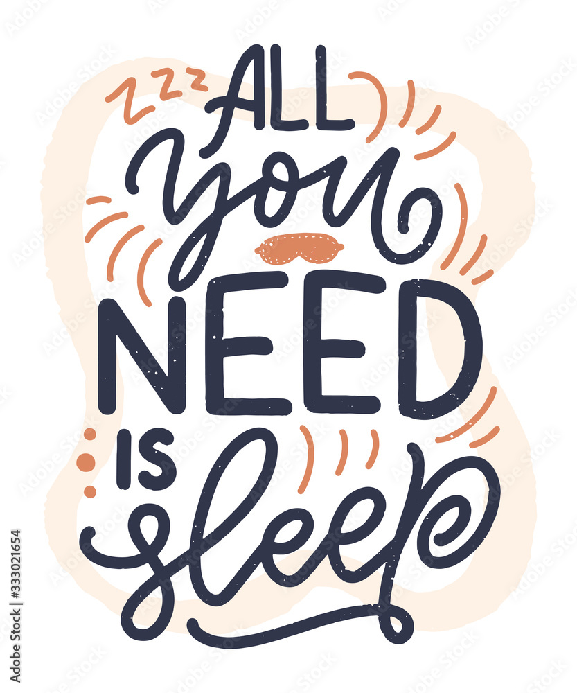 Lettering Slogan about sleep and good night. Vector illustration design for graphic, prints, poster, card, sticker and other creative uses <span>plik: #333021654   autor: Artlana</span>