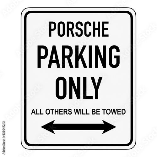 Wallpaper Mural Porsche parking only - all others will be towed