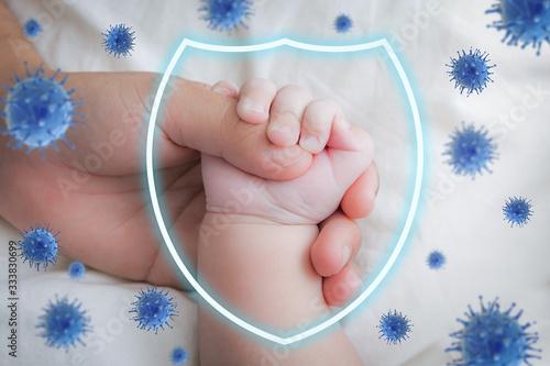 Slika na platnu Baby protected concept
