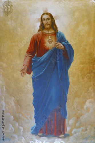 Sacred Heart of Jesus, altarpiece in the Holy Trinity Parish Church in Klenovnik Fototapete