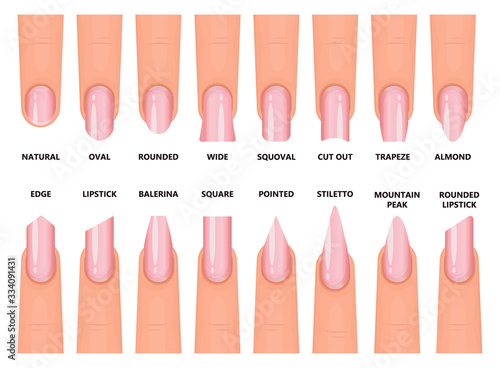 Carta da parati Shape nail vector illustration on white background