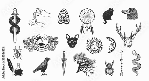 Photo Witchcraft and magic vector collection