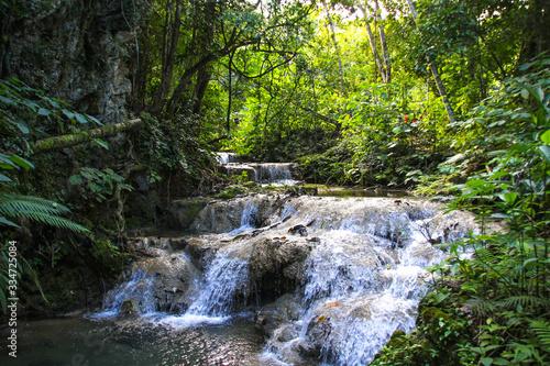 Obraz na płótnie small waterfall in the forest