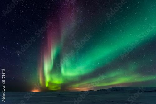 Canvas Print Northern lights aurora borealis