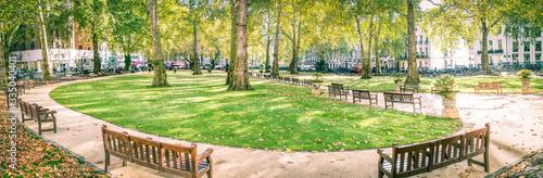 Obraz na plátne Berkeley Square panorama, Mayfair London