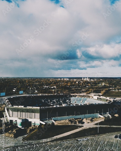 Fotografie, Obraz Pontiac Silverdome Demolish