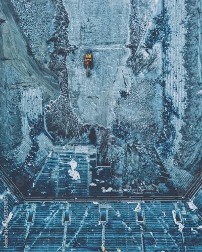 Obraz na plátně Pontiac Silverdome Demolish