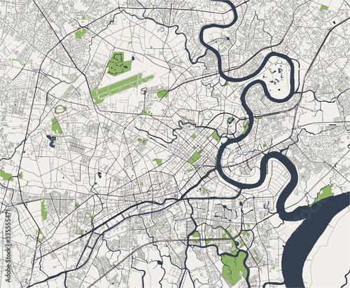 Obraz na płótnie map of the city of Ho Chi Minh City, Vietnam