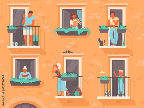 Carta da parati Neighborhood concept