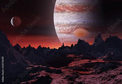 Obraz na plátně 3D illustration of big planet