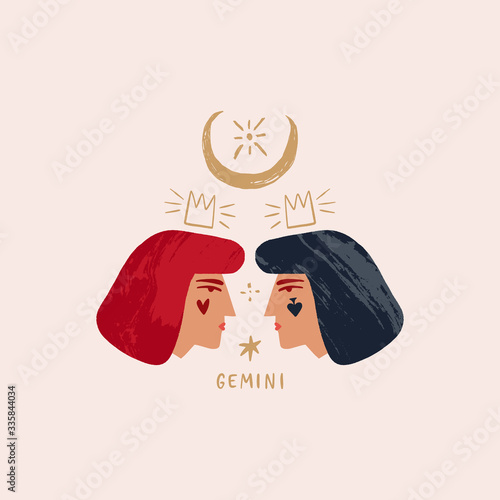 Fotografie, Obraz Zodiac girl Gemini characters