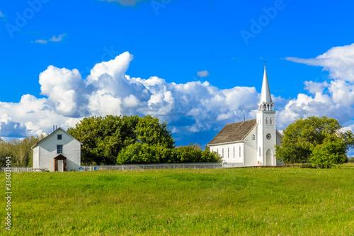 Slika na platnu Church and Home