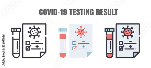 Photographie Testing Result of Covid-19 Patients is Negative or Positve
