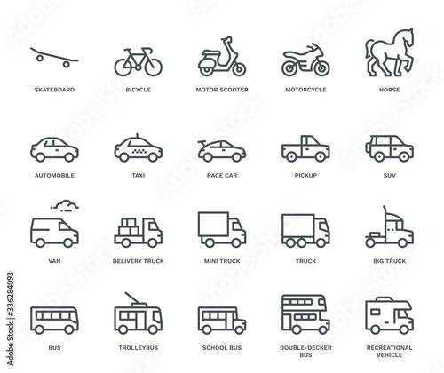 Fotografia Road Transport Icons