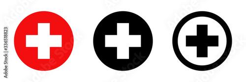 Red cross Fototapet