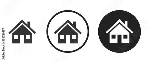 Detached house icon . web icon set .vector illustration
