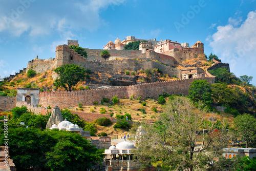 Fototapeta Kumbhalgarh fort famous indian tourist landmark. Rajasthan, India