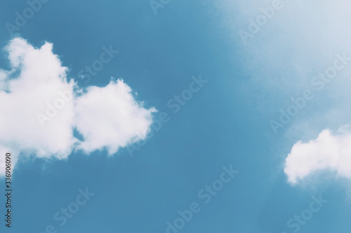 Canvas Print Blue sky with clouds
