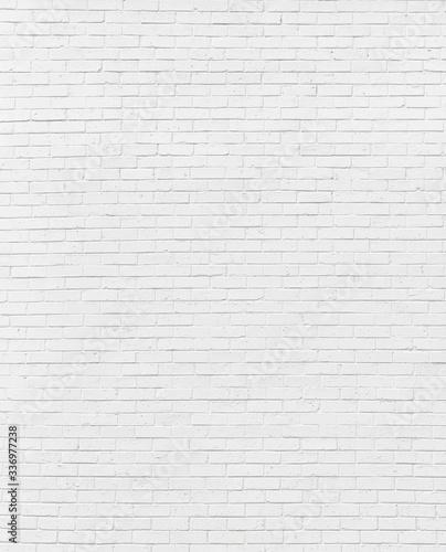 white brick wall may used as background Fototapeta