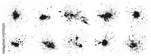 Fotografia Grunge ink splatter