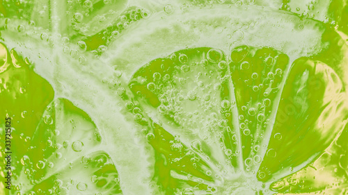 Photo Slices of freshly cut lime