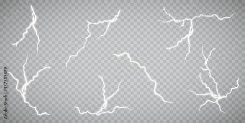 Tablou Canvas Set of lightnings