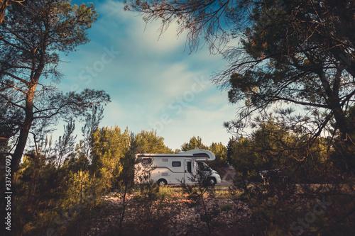 Wallpaper Mural campervan caravan vehicle for van life holiday on mobile home camper mobile moto
