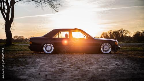 фотография Mercedes Benz W201 Sonnenuntergang