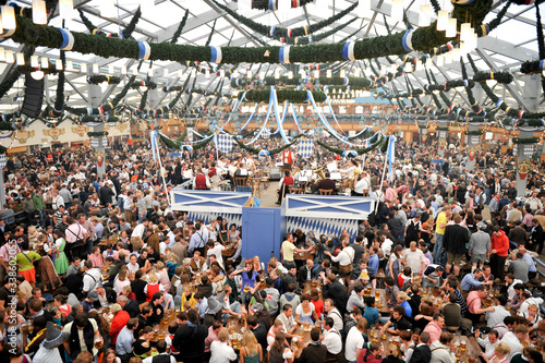 Fototapeta Beer Festival With Many Visitors