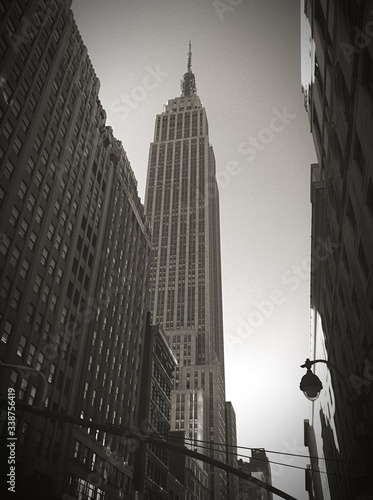 Wallpaper Mural Low Angle View Of Empire State Building Against Clear Sky