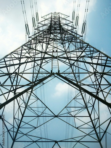 Canvas Print Low Angle View Of Electricity Pylon Against Sky