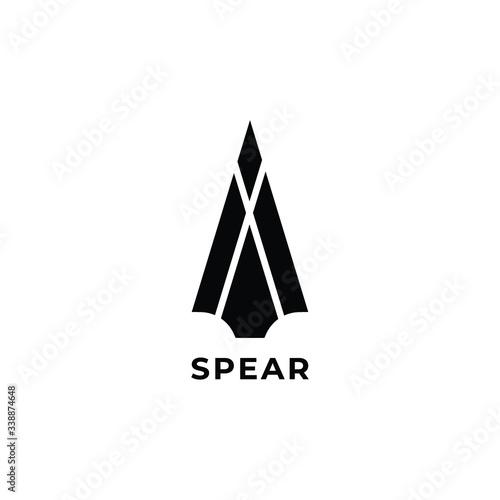 Obraz na płótnie spear head  logo icon design