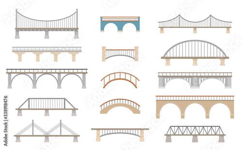 Tablou Canvas Set of different bridges