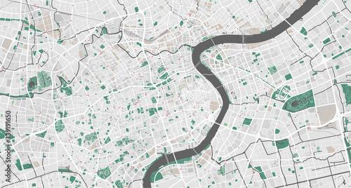 Fotografie, Obraz Detailed map of Shanghai, China