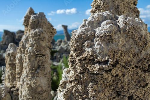 Close-up Of Tufas In Mono Lake Tufa State Natural Reserve Fototapeta