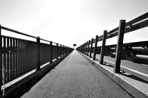 Canvastavla Footbridge Against Clear Sky