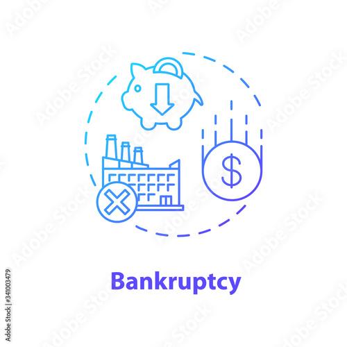 Bankruptcy concept icon Fototapete