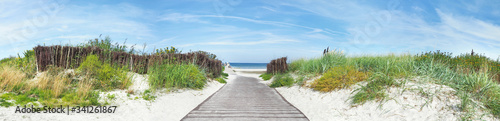 Fotografia Baltic Sea Beach - Dune Path Panorama