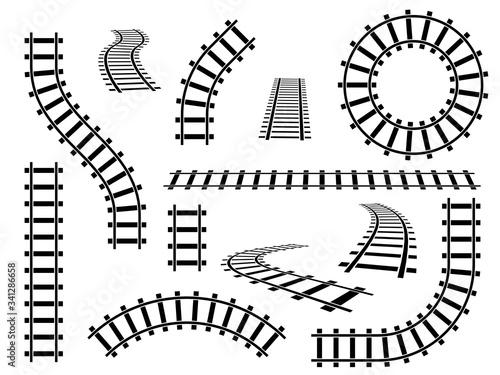 Railroad tracks Fototapeta