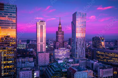 Warszawa z lotu ptaka #341339400