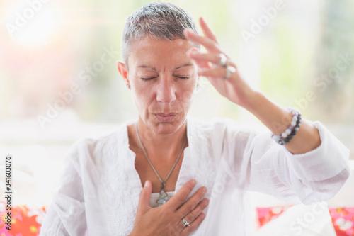 Canvas Print Intuition Meditation Hand Gesture