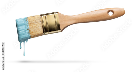 Obraz na plátně Perfect paintbrush on white with clipping path