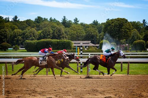 Canvastavla Horse Racing Track Upstate New York Adirondacks Saratoga Race Course