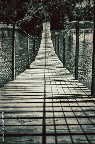 Canvastavla Footbridge Over River