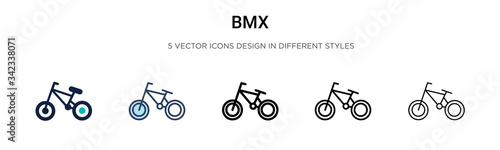 Fotografia Bmx icon in filled, thin line, outline and stroke style