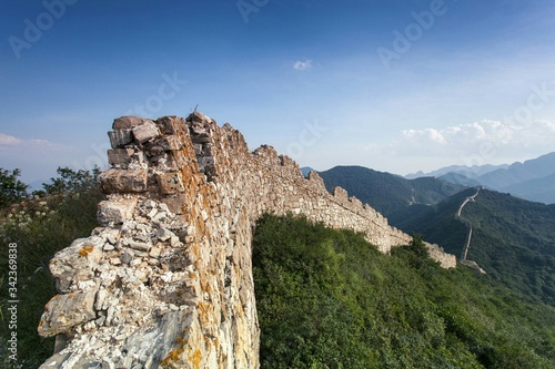Canvastavla Great Wall Of China Against Blue Sky